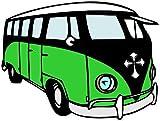 1 x Aufkleber VW Bus Bulli Sticker T1 T2 T3 T4 T5 Eisernes Kreuz Fun Gag Tuning