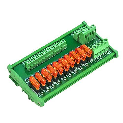 Ninth-city AC/DC 5 bis 32 V DIN-Schienenmontage, 10 Positionen Stromverteiler-Sicherungshalter Modul Board Fuse-modul
