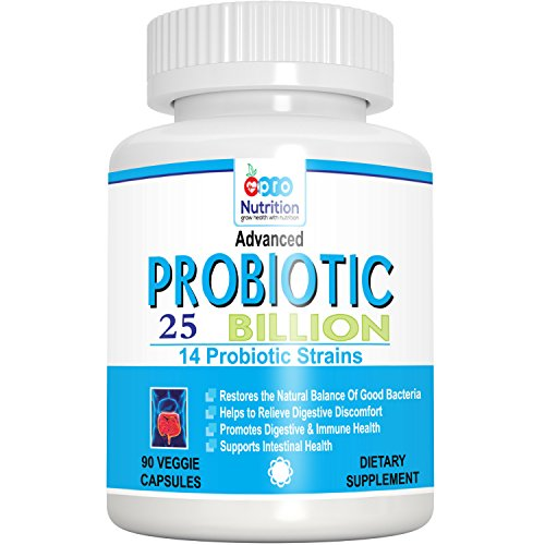 ProNutrition Advanced Probiotics 25 Billion per Capsule, 14 Probiotic Strains,...