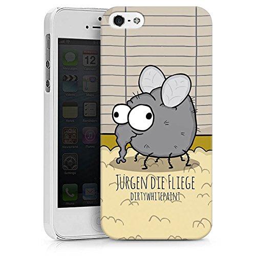 Apple iPhone X Silikon Hülle Case Schutzhülle DirtyWhitePaint Fanartikel Merchandise Jürgen die Fliege Hard Case weiß