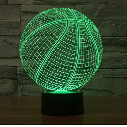 Kreatives Nachtlicht Basketball Bunte Led Kleine Nacht Led Kreative Tischlampe Farbwechsel Buntes Nachtlicht 3D Nachtlicht -