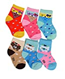 #2: Crux&hunter 6 pair cotton new assorted socks for baby boy's and girl's (Age group 0-9 months)