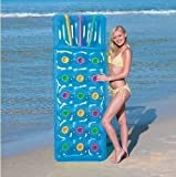 INFLATABLE 18 POCKET FASHION SUN BEACH SWIMMING POOL LOUNGER LILO AIR BED MAT