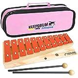 Sonor G10 Glockenspiel Xylophon 13 Töne, von c3 bis f4 + keepdrum Tasche Pink