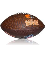 Wilson Football NFL Junior Cleveland Browns Logo - Balón de fútbol americano ( infantil, caucho ) , color multicolor, talla 5