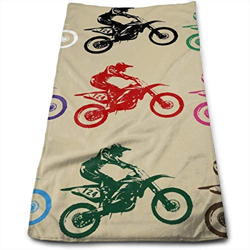 Bikofhd Online Shop Boy Riding Motorcycle Microfiber Lightweight Soft Fast Drying for Gym Beach Travel Fitness Exercise Yoga
