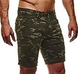 LEIF NELSON Herren Jeans Shorts LN1397; W36; Camouflage