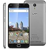 "Umi Touch - 4G LTE Smartphone Libre Multitáctil Android 6.0 (Pantalla HD 5.5"", 1.5GHz Octa Core, 3GB RAM 16GB ROM, 13.0MP Cámara, GPS, WIFI, Touch ID, Dual SIM) (Gris)"