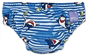 Bambino Mio Swim Nappy, Blue Shark, Size: Small (Manufacturer Size: 5-7kgs, 11-16lbs)