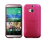 Luxburg® Diamond Design Schutzhülle für HTC One M8 in Farbe Rosenquartz Pink/Rosa, Hülle Case aus TPU Silikon