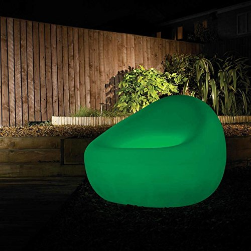 Outdoor CFL Illuminated Outdoor Garden Furniture Glow Light Clearance Litecraft (Green, Tub Chair)