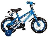 Kinderfahrrad Jungenfahrrad 14 Zoll mit Stützräder Blau 95% zusammengebaut