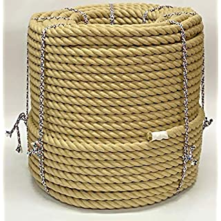 RopeServices UK 28mm Polyhemp x 11 Metres, Garden Boating Decking Boat Rope, Synthetic Hemp