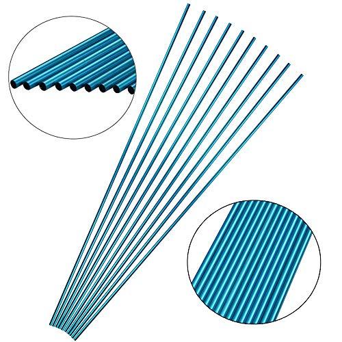 ZSHJG 12pcs Bogenschießen Aluminium Pfeilschaft Spine 500 Jagd 30 Zoll Pfeilschaft Jagdbogenpfeile Chaft aus Aluminium für DIY Pfeile Compound Recurve Bogen (Blau) (Recurve Bogen Pfeile Aluminium Für)
