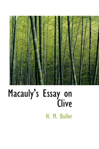 Macauly's Essay on Clive
