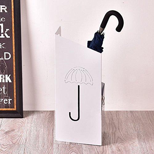Stockage debout Rangement pour parapluie/porte-parapluie ménager multifonction (Couleur : Blanc)