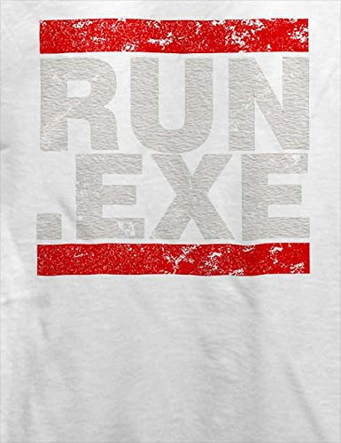 Run Exe Vintage T-Shirt Weiß