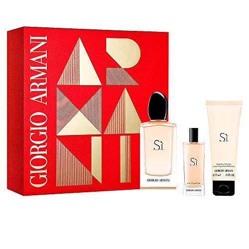 Giorgio Armani Si Geschensket 100ml EDP Eau de Parfum Spray + 15ml EDP Eau de Parfum Spray + 75ml Body Lotion