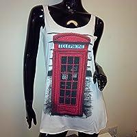 Stadt Kleidung (London) ~ Damen Diamant Telefon UK Weste ~ ~ WHITE Coole CC Ltd