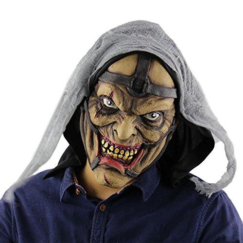 MeOkey Halloween Maske Gruselig Kopfmaske Erwachsene Latex Horror Maske für Fasching Festival Party Kostüm-Abendkleid Dekoration Cosplay