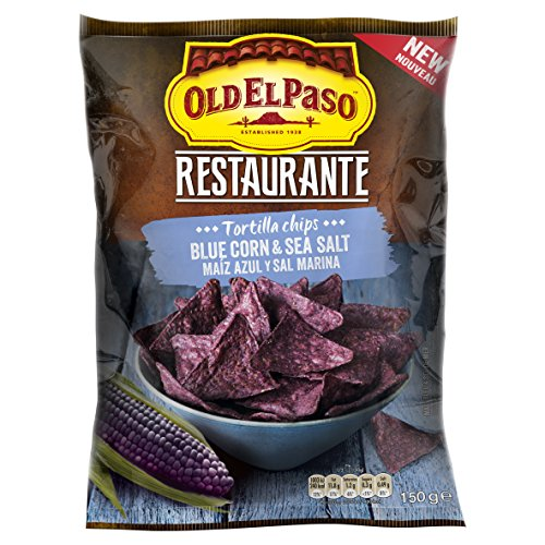 Old el paso Restaurant Blue Corn & Sea Salt Chips 150 g