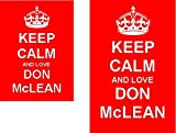 Keep Calm And Love Don McLean Novelty Keyring and Fridge Magnet Set