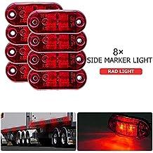 NEU 4x LED Umrissleuchte Begrenzungsleuchte Rot Lampe Anhänger LKW Truck 12V//24V