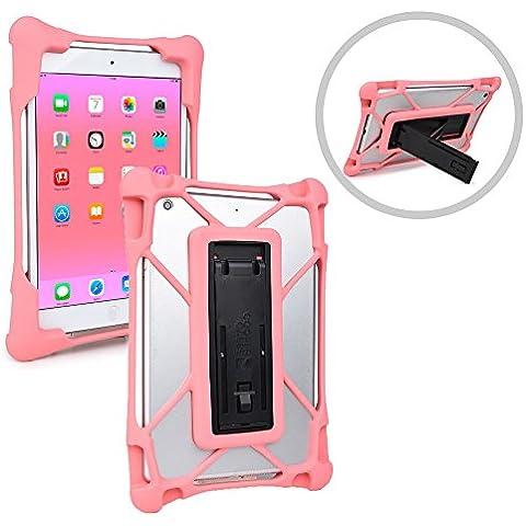 Funda ultrarresistente Trooper de Cooper Cases(TM) a prueba de caídas para tablets de Acer Iconia Tab 8 W (W1-810-1193) en Rosa (Cuerpo ultrafino pendiente de patente, esquinas reforzadas, apertura para cámara trasera, soporte abatible)