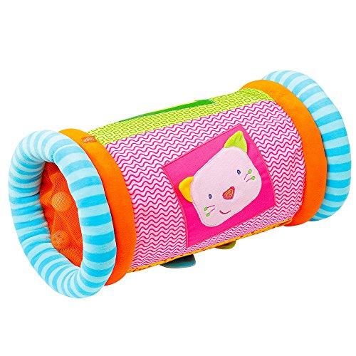 Fehn 142457 Krabbelrolle Robos – Krabbelhilfe & Motorik-Spielzeug zum Greifen und Entdecken – Für Babys und Kleinkinder ab 6+ Monaten