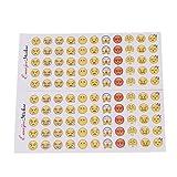 ODN 12 Blätter Emoji Sticker Aufkleber Für Telefon Kalender Tagebuch Notizbuch Dekor Vergleich