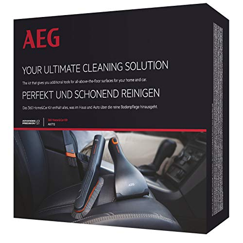 AEG AKIT12 Düsen-Erweiterungs-Set 360° Home & Car Kit, mit Softbürste, flexible Fugendüse, Mini-Turbodüse, 36mm (oval)
