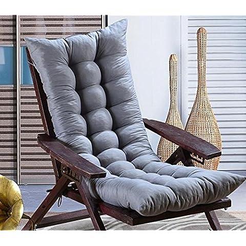 Lay Cuscino peluche lungo vimini sedia cuscino divano cuscino imbottito sedia a dondolo cuscino, Gray