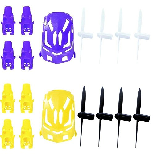 estes-proto-x-qty-1-nano-body-shell-h111-01-purple-quadcopter-frame-w-motor-supports-qty-1-yellow-qt