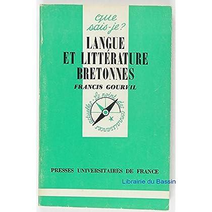 Langue et littérature Bretonnes