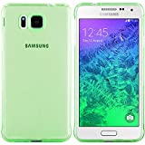 Samsung Galaxy Alpha Hülle in Grün - Silikonhülle Case Schutzhülle Tasche für Samsung Alpha (Rutschfest)
