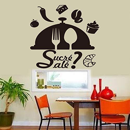 """Linaonao Fototapete\""""Französisch Gericht Süß Und Lecker Vinyl Wand Applique Tapete Wandkunst Küchenfliese Applique\"""""""