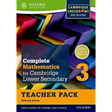 Complete Mathematics for Cambridge Lower Secondary Teacher Pack 3: For Cambridge Checkpoint and beyond
