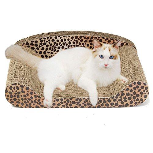 owikar Sofa Design Kratzbaum, Wellpappe Spielzeug Lounge Kitty Couch Karton Katzenbaum Kratzbaum SOFA Bett Pad schützen Ihre Möbel Erste beschädigt Qualität Haustierpflege Supplies Erste Person, Liebe