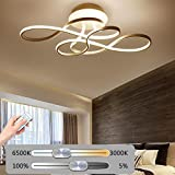 Kreativ LED Deckenleuchte Wohnzimmerlampe Moderne Designer-Lampe Metall Acryl geschwungener Optik Decke Leuchte Deckenlampe Innenraumlampe Dekorativ Beleuchtung für Schlafzimmer Küche Dimmbar 11W