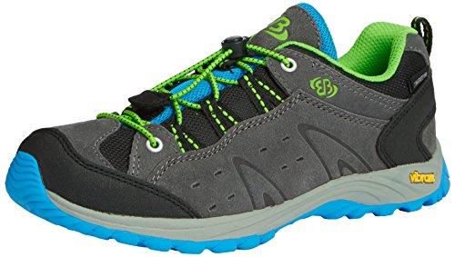Brütting Mount Bona Low Kids, Chaussures de randonnée garçon Gris - Grau (grau/blau/lemon)