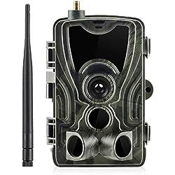 DAIFA Mini cámara de Caza Full HD 1080P, IP56 a Prueba de Agua, cámara de Juego de Campo de visión Gran Angular con Detector de Movimiento, cámara de Presa de visión Nocturna