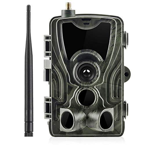 Wildkamera 14MP Mini Kamera Full HD 1080P, Jagd Kamera Wasserdicht Gartenkamera Weitwinkel Vision Wildkamera mit Bewegungsmelder Nachtsicht LCD Beutekameras wasserdichte IP56