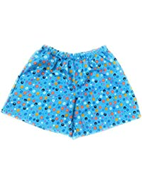 Twist Men's Sky Blue Printed Night Wear Shorts With Contrast & Free Shipping