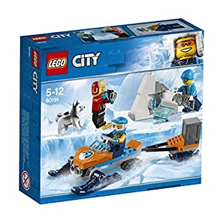 LEGO 60191 City Artic Expedition Team Playset, Toy Explorer Vehicles, Winter Adventure Sets for Kids