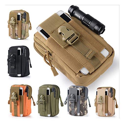 SAMGOO Hüfttasche militär Taktisch MOLLE outdoor gürteltasche Multifunktional für Handy sport Tasche Camping Wandern Schlammfarbe Tarnung