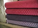 Qjutie Lottashaus Jersey no123 Stoffpaket 4 Stück 50x70cm Lila Sterne Tupfen Fuchsia Baumwolljersey Kinder Kleidung Stoffe