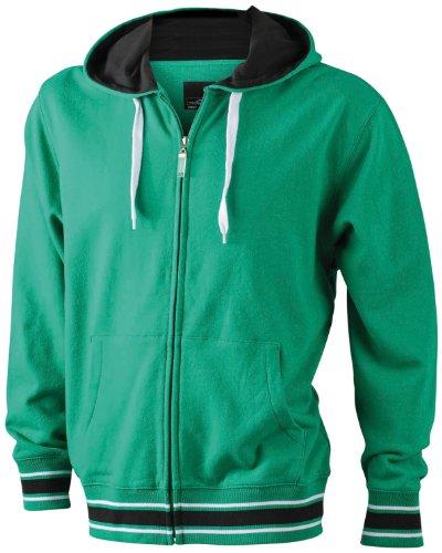 James & Nicholson Herren Sweatshirt irish-green/black/white