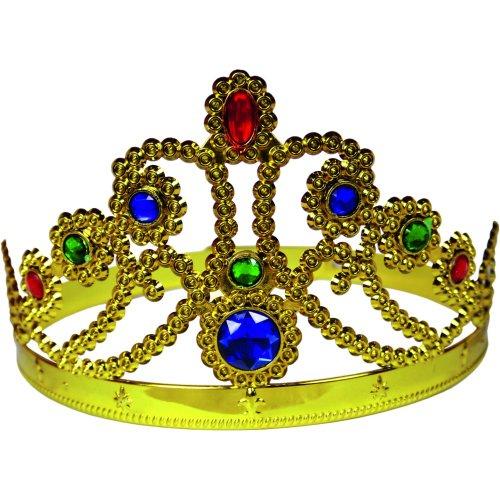 BestSaller 1307 Goldene Prinzessinen-Krone, gold (1 (Peach Princess Kostüme Kinder)