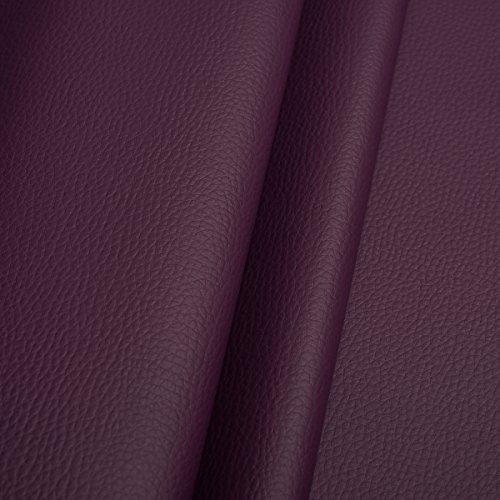 EDGE Kunstleder Meterware 1lfm 1,4m breit Polsterstoff Bezugsstoff Lederoptik Violett
