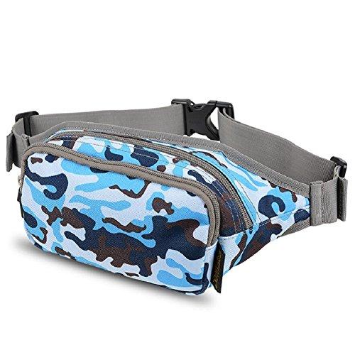LJ&L Outdoor Läufertaschen, Geldbörse, Mehrzwecksport Reitwanderung wasserdichte Taschen, verstellbarer Gürtel, High-End-Taschen C
